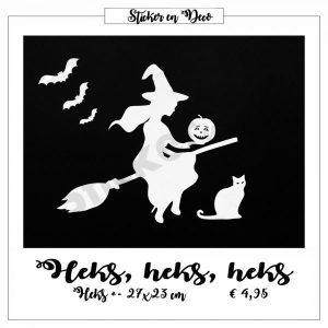 Halloween Heks statisch hechtende raamsticker
