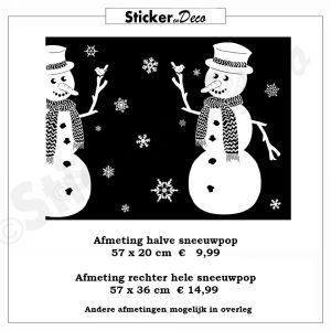 Sneeuwpop raamsticker herbruikbaar penstick viny