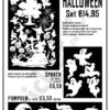 Raamsticker Halloween flyer sticker en deco