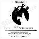 Sinterklaas raamsticker in maan Air Illustraties Raamsticker zwart