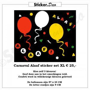 Carnaval Alaaf Set XL Raamsticker herbruikbaar