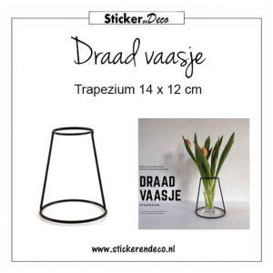 Draad vaasje Trapezium 14 x 12 cm