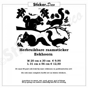 Raamsticker Eekhoorn