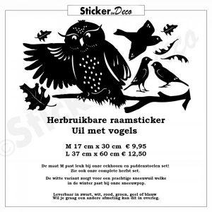 Raamsticker Uil