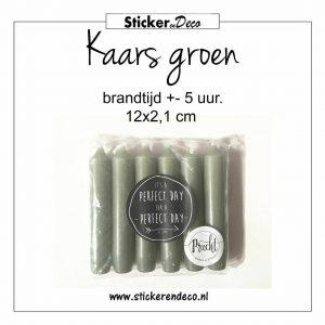 Kaars groen van Rustik Lys