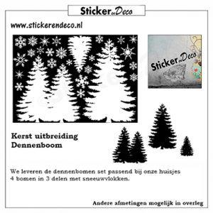 Raamsticker Kerst Dennenboom