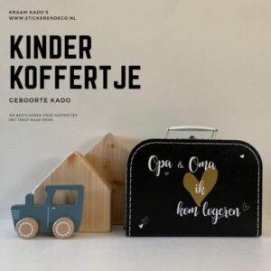 Kinderkoffertjes 35 cm Sticker en Deco