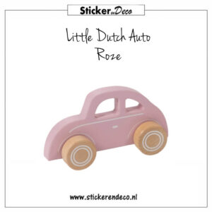 Little Dutch Auto Roze Sticker en Deco