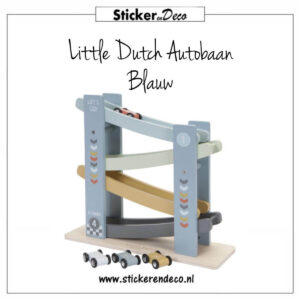 Little Dutch Autobaan Blauw Sticker en Deco