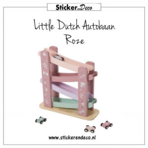Little Dutch Autobaan Roze Sticker en Deco