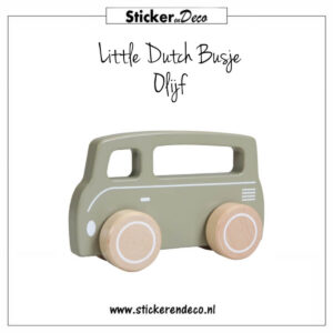 Little Dutch Busje Olijf Sticker en Deco