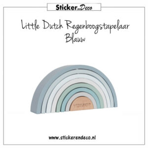 Little Dutch Regenboog stapelaar Blauw Sticker en Deco