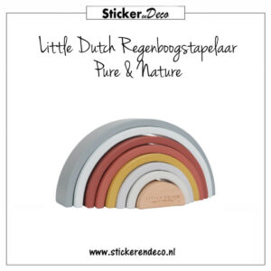 Little Dutch Regenboog stapelaar Pure Nature Sticker en Deco