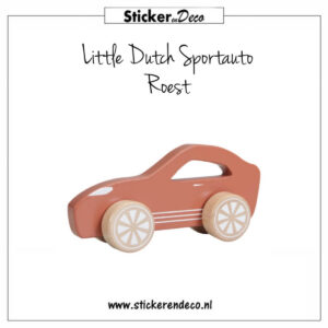 Little Dutch Sportauto Roest Sticker en Deco