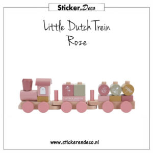 Little Dutch Trein Roze Sticker en Deco