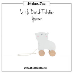 Little Dutch Trekdier Ijsbeer Sticker en Deco
