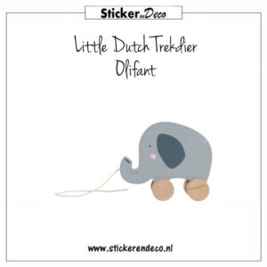 Little Dutch Trekdier Olifant Sticker en Deco