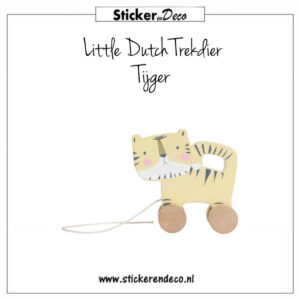 Little Dutch Trekdier Tijger Sticker en Deco