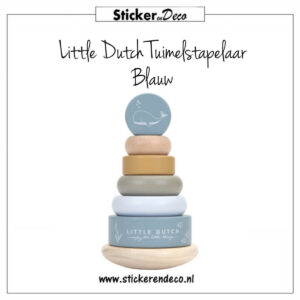 Little Dutch Tuimelstapelaar Blauw Sticker en Deco