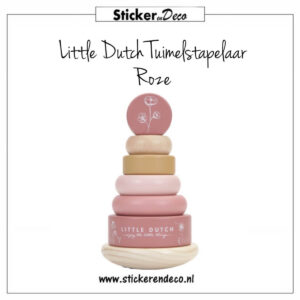 Little Dutch Tuimelstapelaar Roze Sticker en Deco