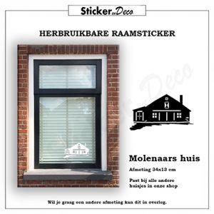 Raamsticker Molenaars huis statische vinyl