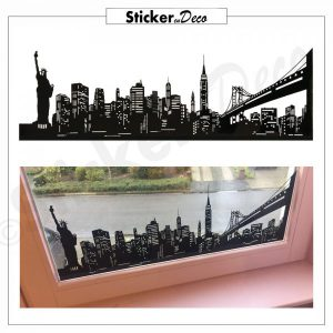 New York Skyline Frame raamstickers