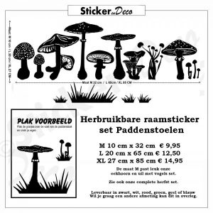 Raamsticker paddenstoelen