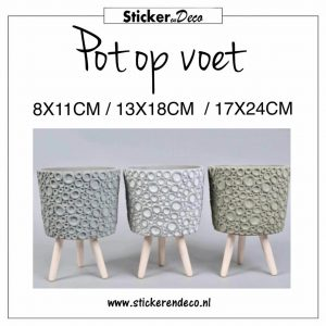 Pot op voet bloempot design
