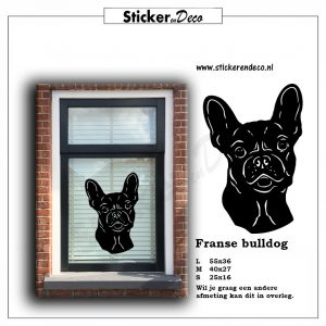 Raamsticker Franse Bulldog Sticker en Deco