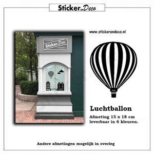 Raamsticker Luchtballon raamfolie van statisch hechtende vinyl