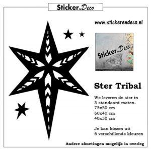 Raamsticker Ster tribal kerst herbruikbare raamstickers