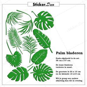 Raamsticker palm bladeren herbruikbare raamfolie
