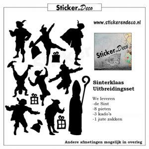 Raamsticker Sinterklaas en Pieten
