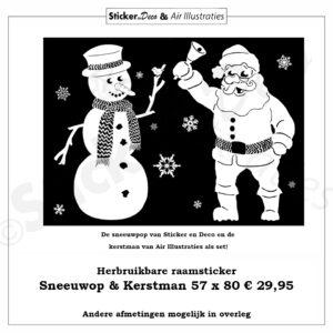 Sneeuwpop en Kerstman Air illustraties