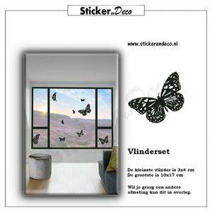Raamstickers vlinder set raamfolie statiche vinyl