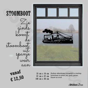 Raamsticker Stoomboot Sinterklaas pakjesboot