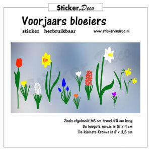Voorjaars bloeiers raamsticker herbruikbare vinl