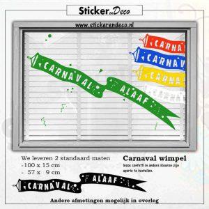 carnaval wimpel raamsticker herbruikbare vinyl