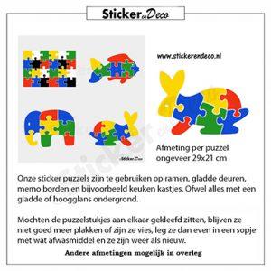 puzzel konijn raamsticker herbruikbare vinyl folie