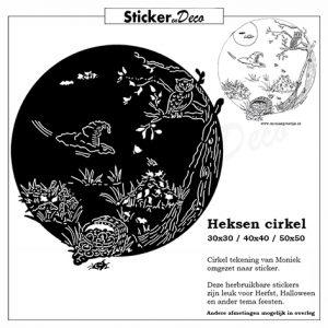 raamsticker heksen cirkel herbruikbare vinyl bol
