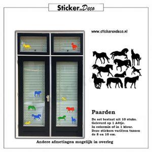 Paarden raamsticker van herbruikbare vinyl folie