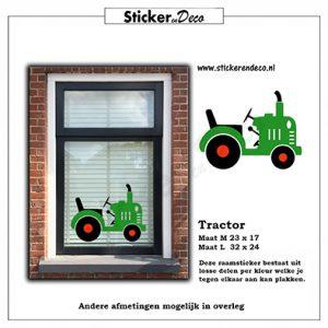 Tractor Raamsticker herbruikbaar Raamfolie statische vinyll