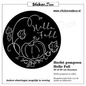 raamsticker pompoen cirkel hallo fall vinyl