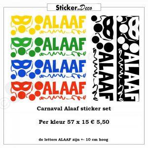 Carnaval Masker Alaaf raamsticker herbruikbaar